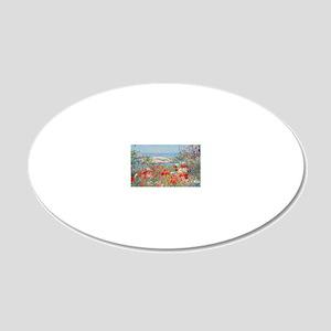 postcard1 20x12 Oval Wall Decal