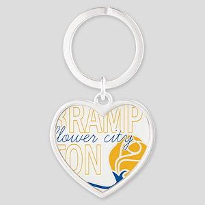 Brampton Flower City Heart Keychain