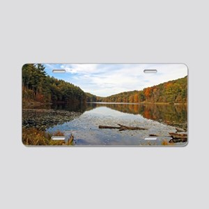 Lake Hope in the Fall Aluminum License Plate