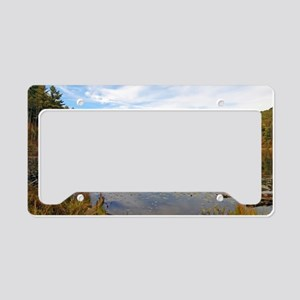 Lake Hope in the Fall License Plate Holder