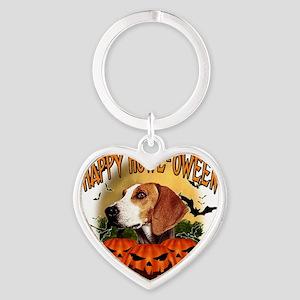 Happy Halloween Foxhound Heart Keychain