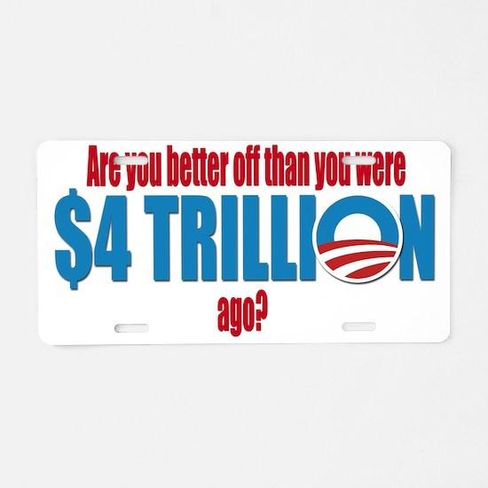 4 trillion Aluminum License Plate