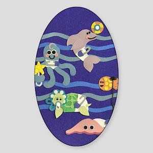 Undersea Nursery Sticker (Oval)