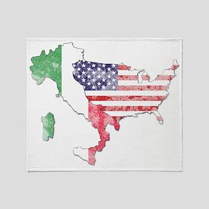 italian american countries Throw Blanket