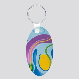 Artwork of male genitalia ( Aluminum Oval Keychain