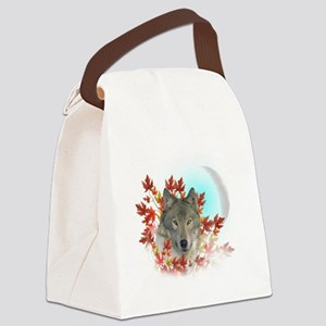 Wolf Harvest Moon Canvas Lunch Bag