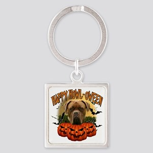 Happy Halloween Mastiff Square Keychain