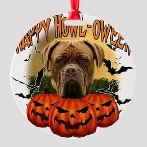Happy Halloween Mastiff Round Ornament