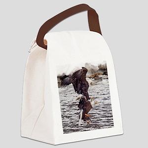 Striking Eagles Canvas Lunch Bag