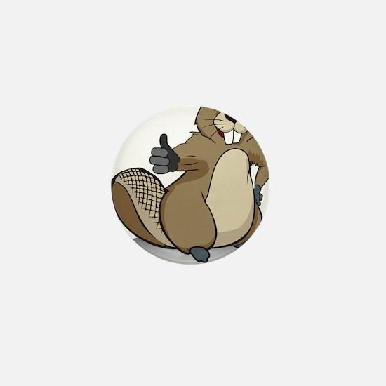 Thumbs up beaver Mini Button