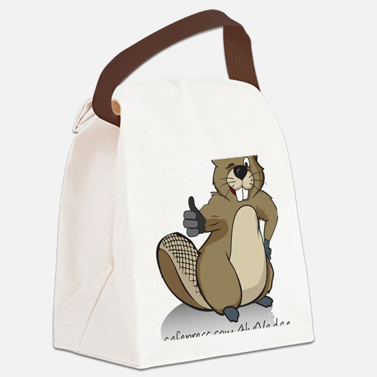 Thumbs up beaver Canvas Lunch Bag