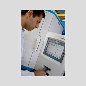 Automated blood bacteria tests Rectangle Magnet