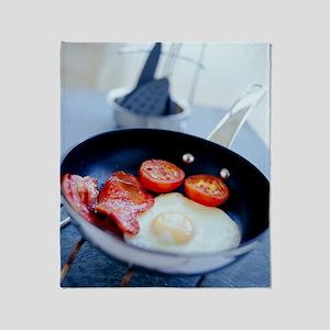 Fried breakfast Throw Blanket