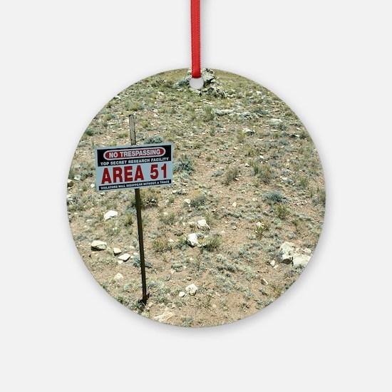 Area 51 UFO site Round Ornament