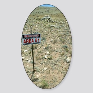 Area 51 UFO site Sticker (Oval)