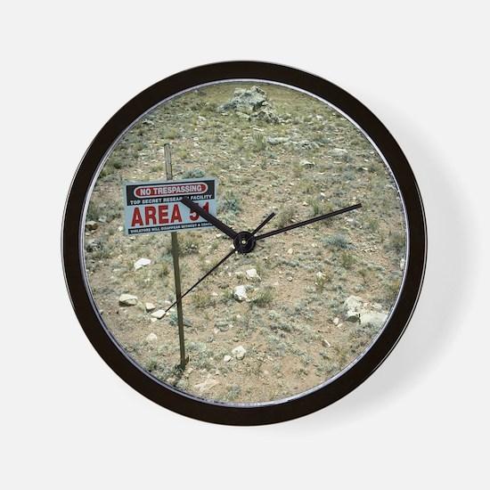 Area 51 UFO site Wall Clock