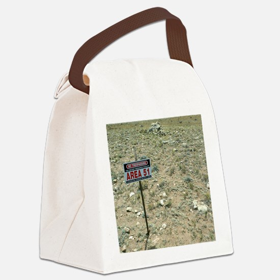 Area 51 UFO site Canvas Lunch Bag