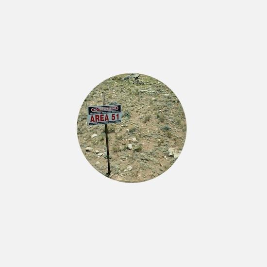 Area 51 UFO site Mini Button
