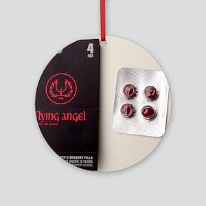 'Flying angel' pills Round Ornament