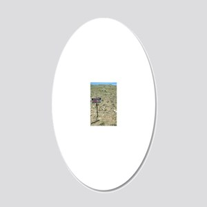 Area 51 UFO site 20x12 Oval Wall Decal