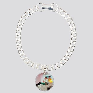 A patient is prepared fo Charm Bracelet, One Charm