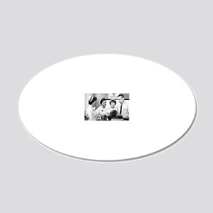 Cold War medical training, 1 20x12 Oval Wall Decal