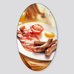Fried breakfast Sticker (Oval)