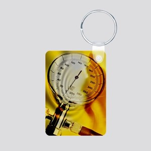 Blood pressure gauge Aluminum Photo Keychain