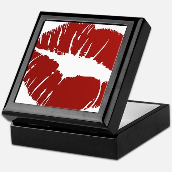 Red lip Kiss Keepsake Box