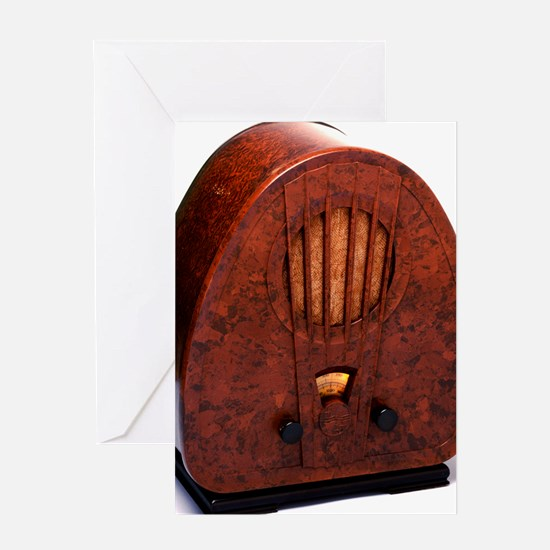 Bakelite radio Greeting Card