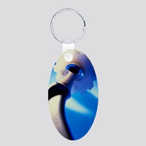 Artificial hip joint Aluminum Oval Keychain