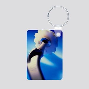 Artificial hip joint Aluminum Photo Keychain