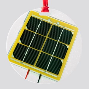 Solar cell Round Ornament