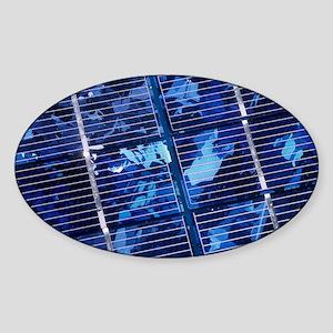 Solar cells Sticker (Oval)