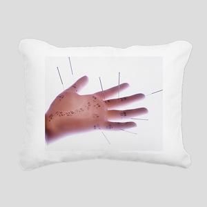 Acupuncture model Rectangular Canvas Pillow