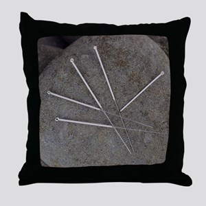 Acupuncture needles Throw Pillow