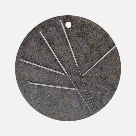 Acupuncture needles Round Ornament