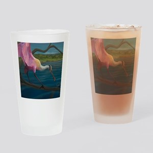 Swagger - Roseate Spoonbill Over Wa Drinking Glass