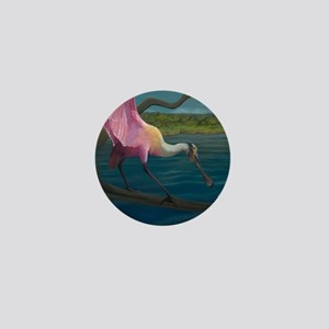 Swagger - Roseate Spoonbill Over Water Mini Button