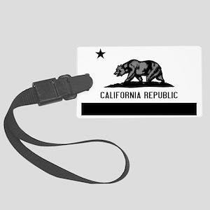 California Flag Black and Grey Large Luggage Tag