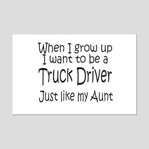 WIGU Trucker Aunt Mini Poster Print