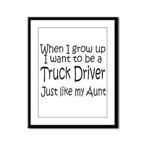 WIGU Trucker Aunt Framed Panel Print
