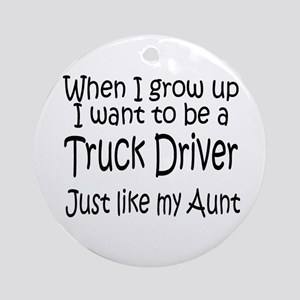 WIGU Trucker Aunt Ornament (Round)