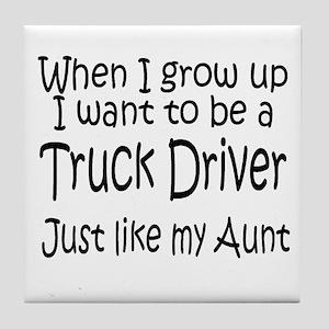 WIGU Trucker Aunt Tile Coaster