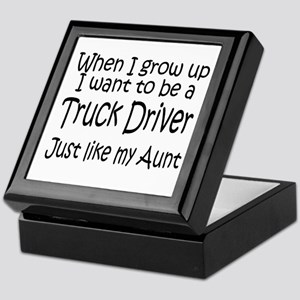 WIGU Trucker Aunt Keepsake Box