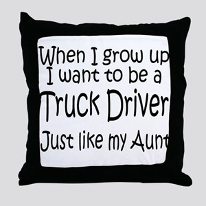 WIGU Trucker Aunt Throw Pillow