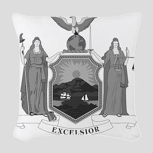 New York State Flag Woven Throw Pillow