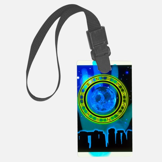 Abstract artwork of fortune tell Luggage Tag