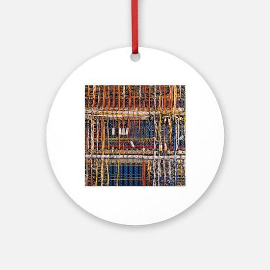 Heathkit computer wires Round Ornament