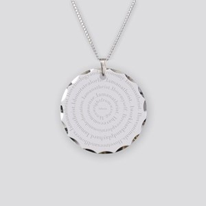 silver Necklace Circle Charm